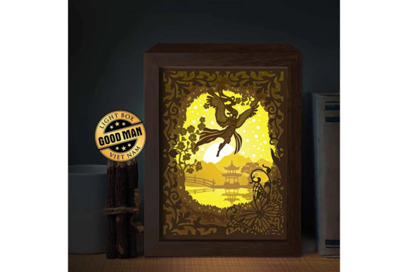 Print on Demand: Angel 3D Paper Cutting Light Box Graphic 3D Shadow Box By LightBoxGoodMan