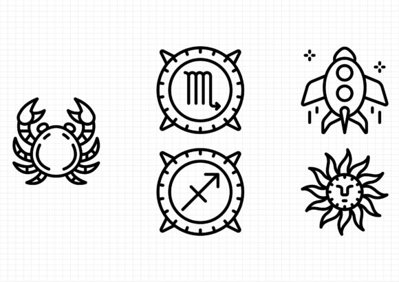 Astronomy Graphic Icons By beryladamayu
