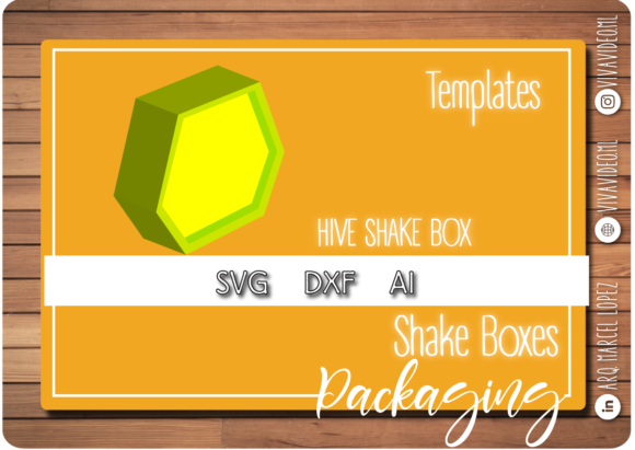 Download Free Shake Box Template Graphic By Marcel De Cisneros Creative Fabrica for Cricut Explore, Silhouette and other cutting machines.