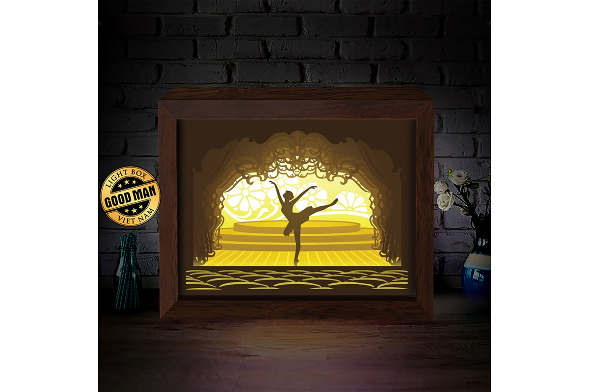 Download Free Ballet 3d Paper Cutting Light Box Graphic By Lightboxgoodman for Cricut Explore, Silhouette and other cutting machines.