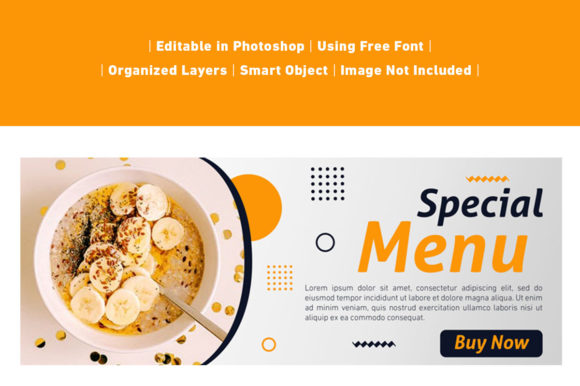 Download Free Banner Menu Food And Culinary Special Graphic By Ant Project for Cricut Explore, Silhouette and other cutting machines.