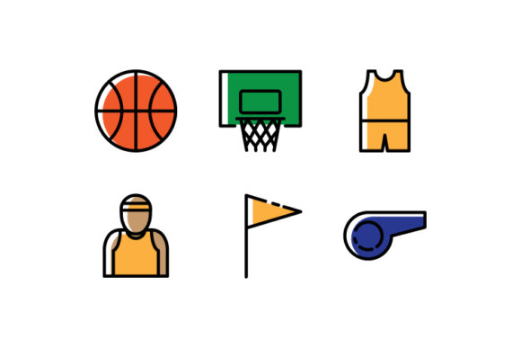 Download Free Basket Ball Icon Colors Graphic By Iconomic Str Creative Fabrica SVG Cut Files