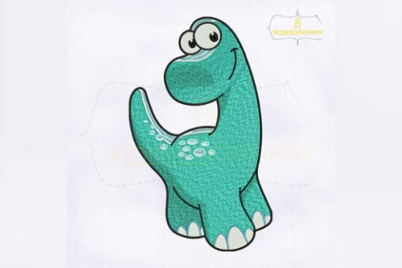 Beautiful Baby Dinosaur Dinosaurs Embroidery Design By RoyalEmbroideries - Image 1