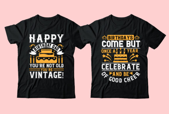 Download Free Birthday Tshirt Design Bundle Graphic By Design Store Creative for Cricut Explore, Silhouette and other cutting machines.