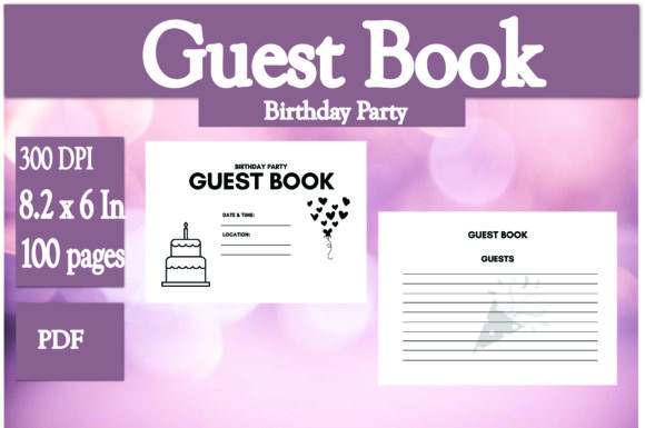 Download Free 1 Birthday Party Guest Book Designs Graphics for Cricut Explore, Silhouette and other cutting machines.
