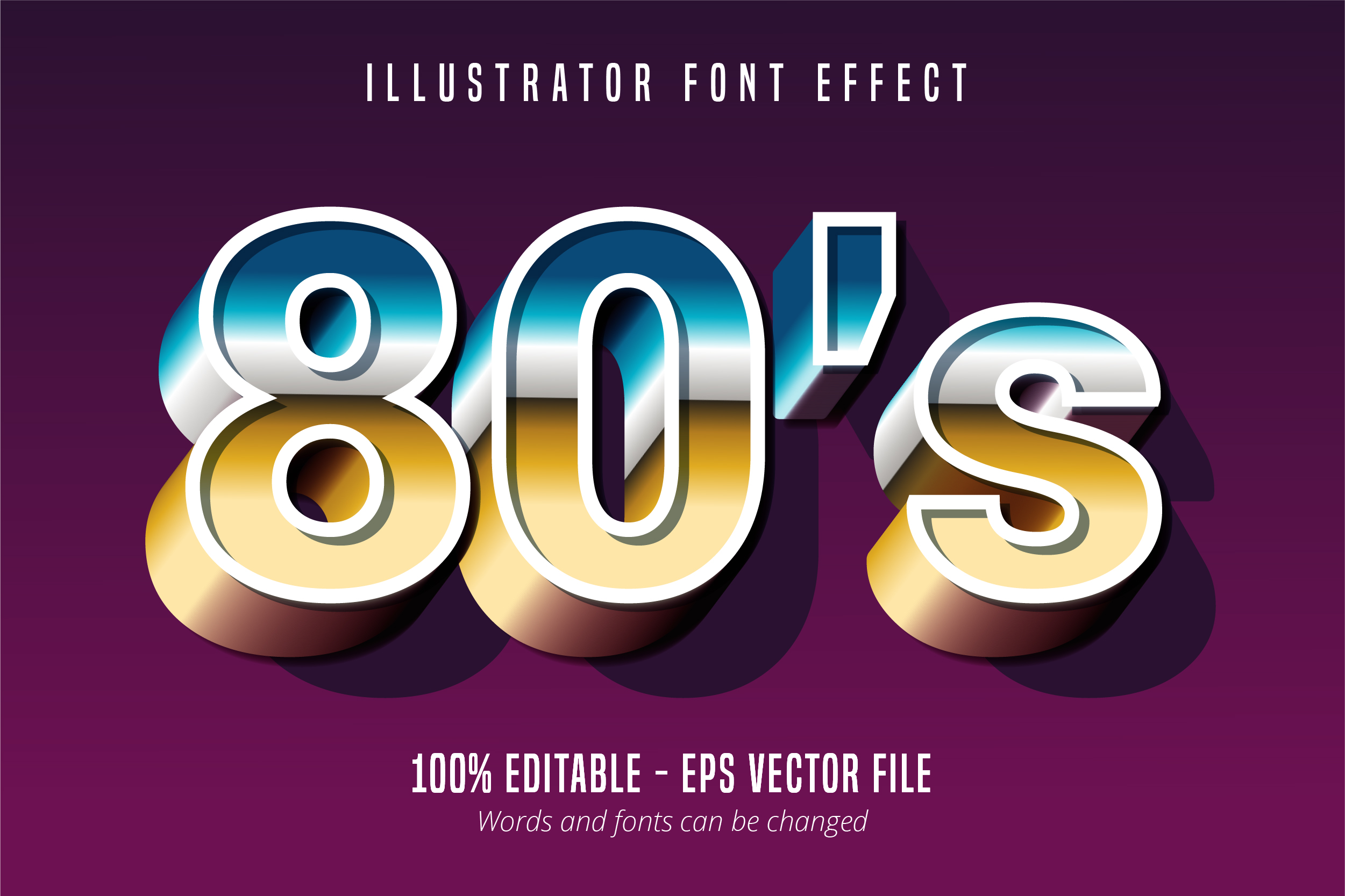 Download Free Bold Script Retro Text Style Font Effect Graphic By Mustafa for Cricut Explore, Silhouette and other cutting machines.