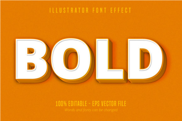 Print on Demand: Bold Text, Editable Text Effect Graphic Graphic Templates By Mustafa Bekşen