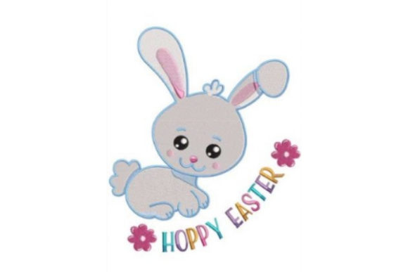 Download Free Bunny Hoppy Easter Creative Fabrica for Cricut Explore, Silhouette and other cutting machines.
