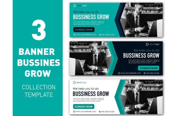 Business Banner Modern Template Collection Graphic Web Templates By ant project template