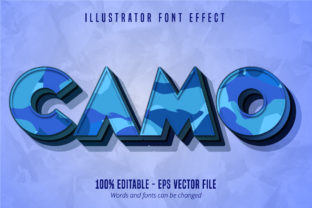 Download Free Camo Text Editable Text Effect Graphic By Mustafa Beksen for Cricut Explore, Silhouette and other cutting machines.