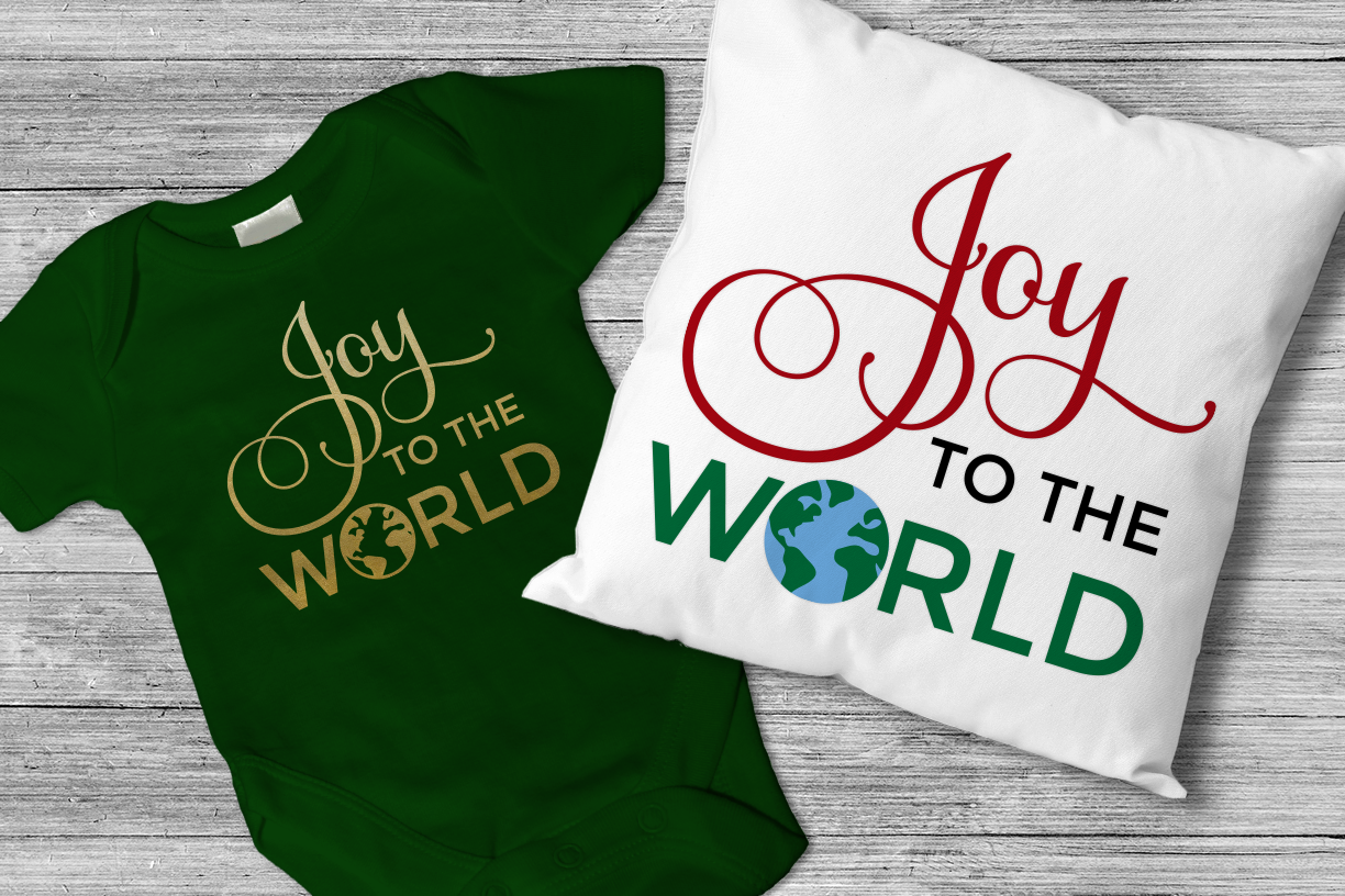 Download Free Christmas Joy To The World Graphic By Designedbygeeks Creative for Cricut Explore, Silhouette and other cutting machines.