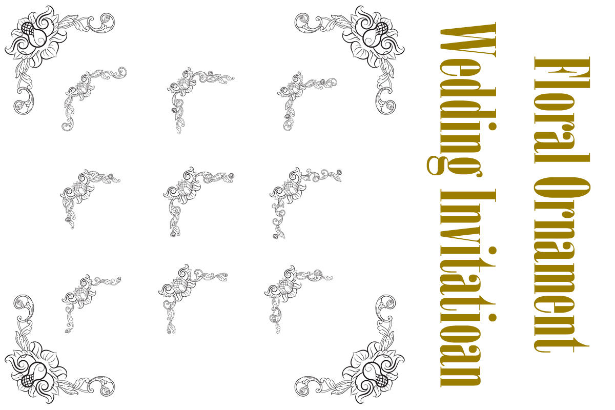 Download Free Classic Vitage Hand Drawn Wedding Vector Graphic By Anomali Bisu for Cricut Explore, Silhouette and other cutting machines.
