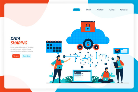 Download Free Cloud Improvement And Data Sharing Graphic By Setiawanarief111 Creative Fabrica for Cricut Explore, Silhouette and other cutting machines.