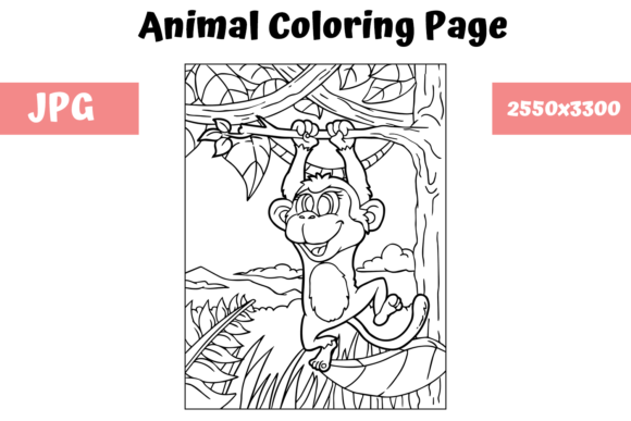 Print on Demand: Coloring Book Page Animal for Kids - 10 Graphic Coloring Pages & Books Kids By MyBeautifulFiles
