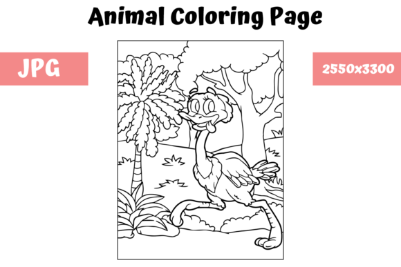 Print on Demand: Coloring Book Page Animal for Kids - 11 Graphic Coloring Pages & Books Kids By MyBeautifulFiles