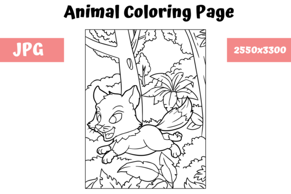 Print on Demand: Coloring Book Page Animal for Kids - 13 Graphic Coloring Pages & Books Kids By MyBeautifulFiles