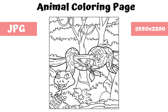 Print on Demand: Coloring Book Page Animal for Kids - 2 Graphic Coloring Pages & Books Kids By MyBeautifulFiles