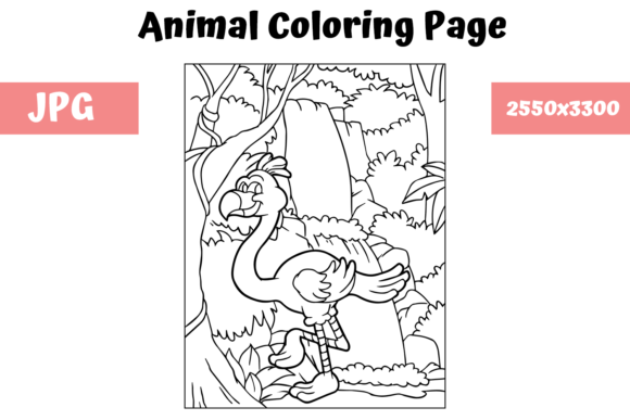 Print on Demand: Coloring Book Page Animal for Kids - 3 Graphic Coloring Pages & Books Kids By MyBeautifulFiles