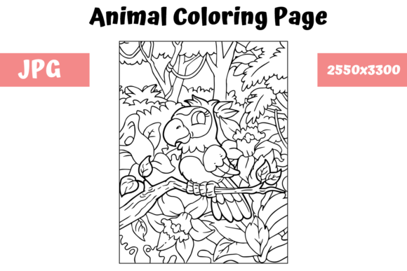 Print on Demand: Coloring Book Page Animal for Kids - 6 Graphic Coloring Pages & Books Kids By MyBeautifulFiles
