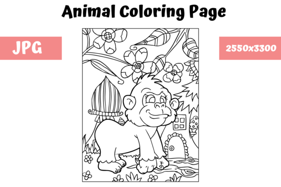 Print on Demand: Coloring Book Page Animal for Kids - 7 Graphic Coloring Pages & Books Kids By MyBeautifulFiles