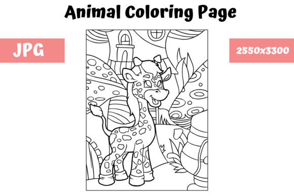 Print on Demand: Coloring Book Page Animal for Kids - 8 Graphic Coloring Pages & Books Kids By MyBeautifulFiles