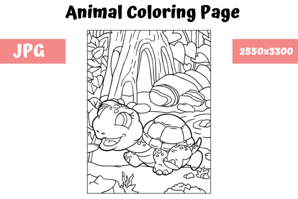 Print on Demand: Coloring Book Page Animal for Kids - 9 Graphic Coloring Pages & Books Kids By MyBeautifulFiles