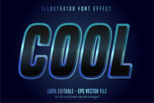 Download Free Cool Text Editable Font Effect Graphic By Mustafa Beksen for Cricut Explore, Silhouette and other cutting machines.