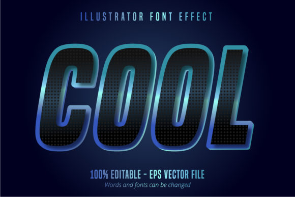Print on Demand: Cool Text, Editable Font Effect Graphic Graphic Templates By Mustafa Bekşen