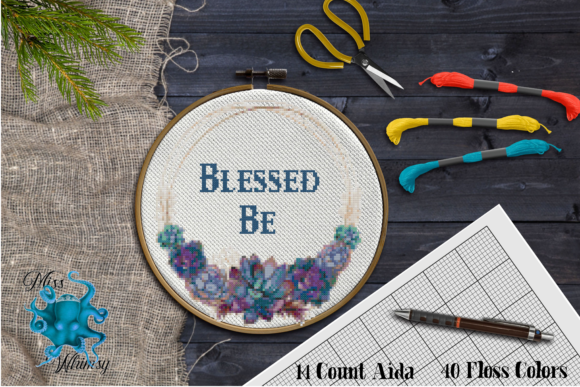 Counted Cross Stitch:  Blessed Be Graphic Cross Stitch Patterns By Miss Whimsy