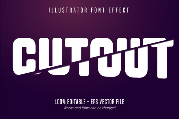 Print on Demand: Cut out Text, Editable Font Effect Graphic Graphic Templates By Mustafa Bekşen