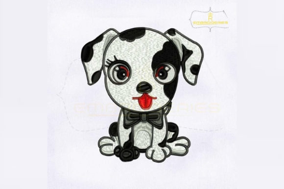 Cute Baby Dalmatian Dogs Embroidery Design By RoyalEmbroideries