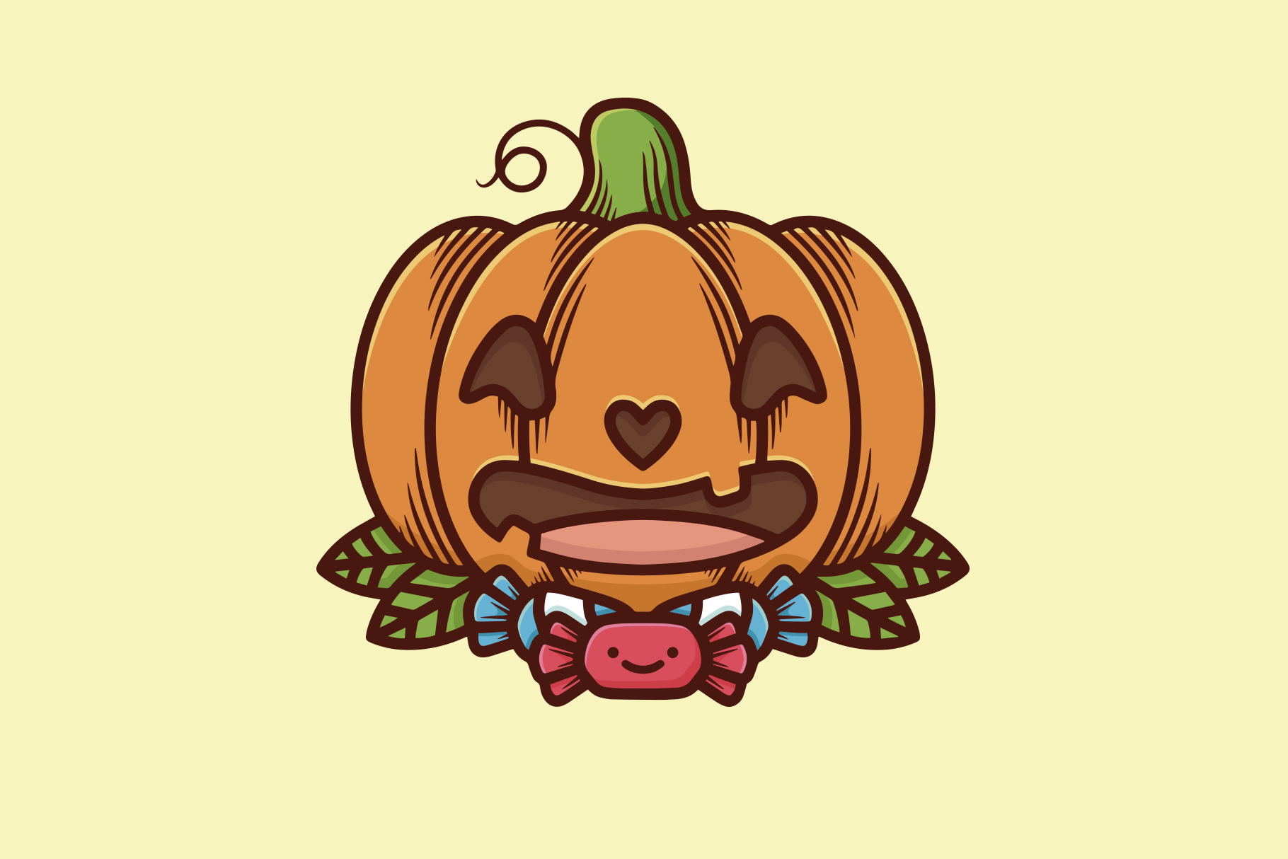 Cute Halloween Pumpkin Illustration Graphic By Vectorwithin Creative Fabrica