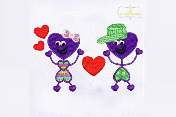 Cute and Lovely Best Friends Valentine's Day Embroidery Design By RoyalEmbroideries
