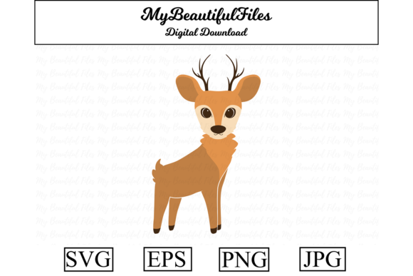Download Free Deer Clipart Illustration Graphic By Mybeautifulfiles Creative for Cricut Explore, Silhouette and other cutting machines.