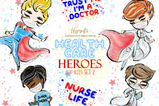 Doctor and Nurse Cliparts Graphic Illustrations By Hippogifts