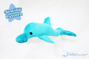 Dolphin Plushie Sewing Pattern Graphic Sewing Patterns By dollphinwing