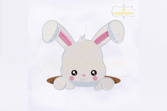 Download Free Easter Bunny Inside Hole Creative Fabrica for Cricut Explore, Silhouette and other cutting machines.