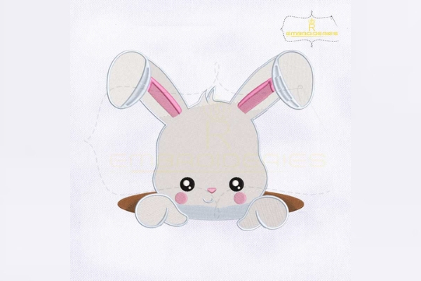 Download Free Easter Bunny Inside Hole Creative Fabrica SVG Cut Files