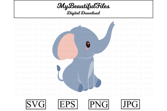 Download Free Elephant Clipart Illustration Graphic By Mybeautifulfiles for Cricut Explore, Silhouette and other cutting machines.