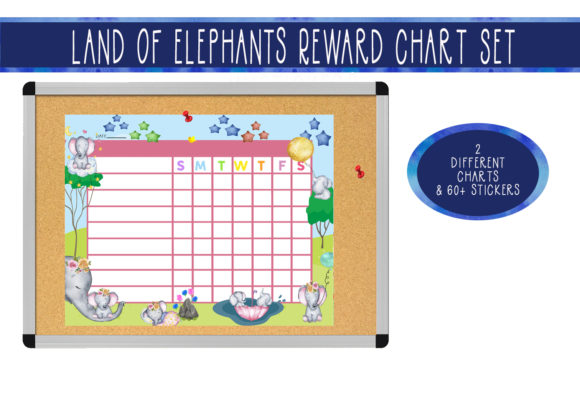 Download Free Elephant Land Rewards Chart Set Graphic By Capeairforce for Cricut Explore, Silhouette and other cutting machines.
