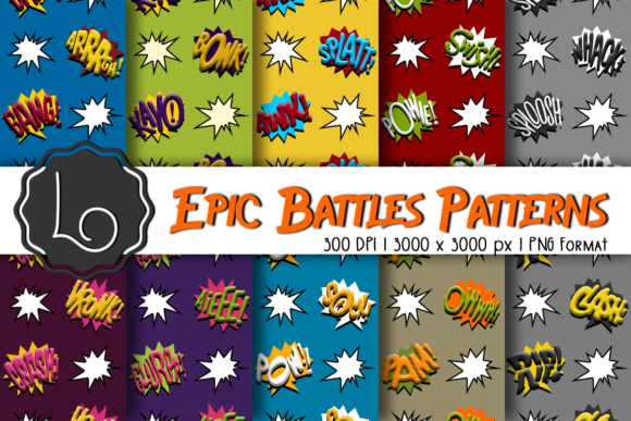 Print on Demand: Epic Battles Patterns Graphic Patterns By La Oliveira