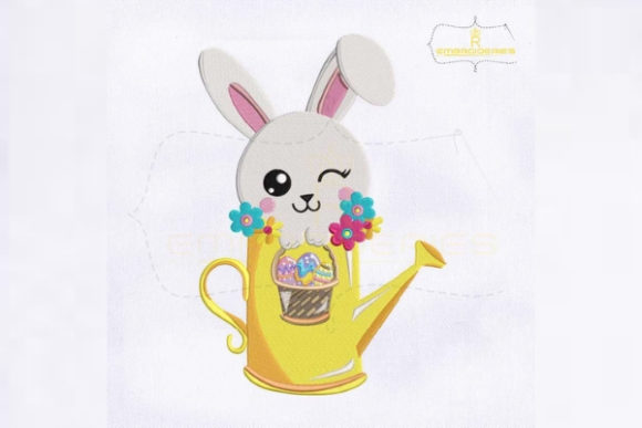 Eye Winking Bunny Easter Easter Embroidery Design By RoyalEmbroideries