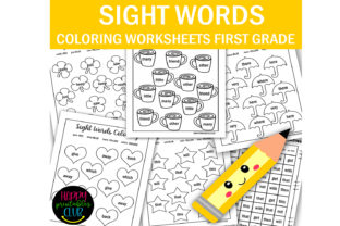 First Grade Sight Words Coloring Pages Graphic 1st grade By Happy Printables Club