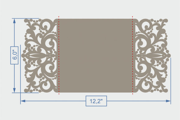 Download Free Gate Fold Wedding Invitation Graphic By Zhaclin Creative Fabrica for Cricut Explore, Silhouette and other cutting machines.