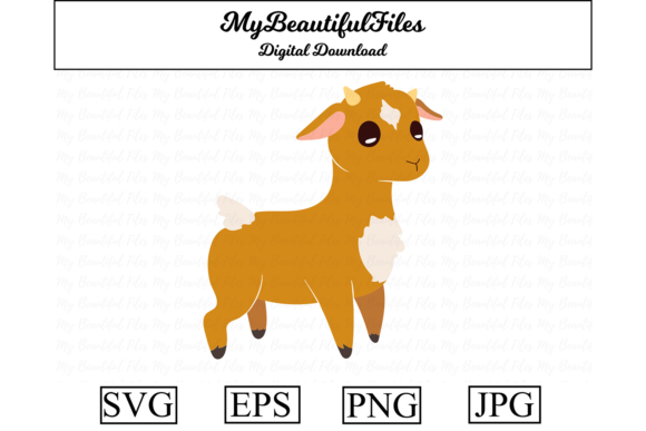 Download Free Goat Clipart Graphic Graphic By Mybeautifulfiles Creative Fabrica for Cricut Explore, Silhouette and other cutting machines.