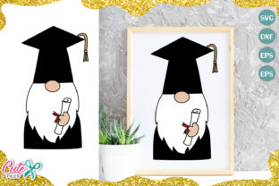Download Free Graduate Gnome For Craftters Graphic By Cute Files Creative for Cricut Explore, Silhouette and other cutting machines.