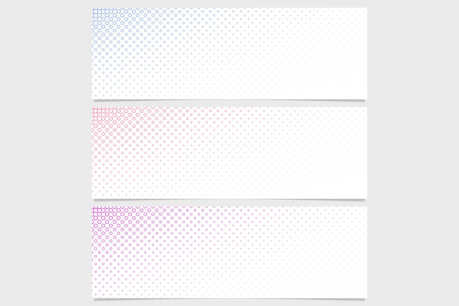 Download Free Halftone Banner Background Set Graphic By Davidzydd Creative for Cricut Explore, Silhouette and other cutting machines.