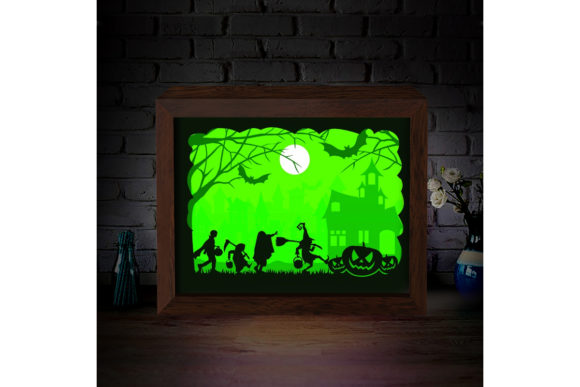 Halloween 1 3D Paper Cutting Light Box Graphic 3D Shadow Box By LightBoxGoodMan - Image 3