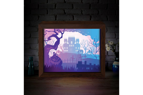 Download Free Halloween 5 3d Paper Cutting Light Box Graphic By SVG Cut Files