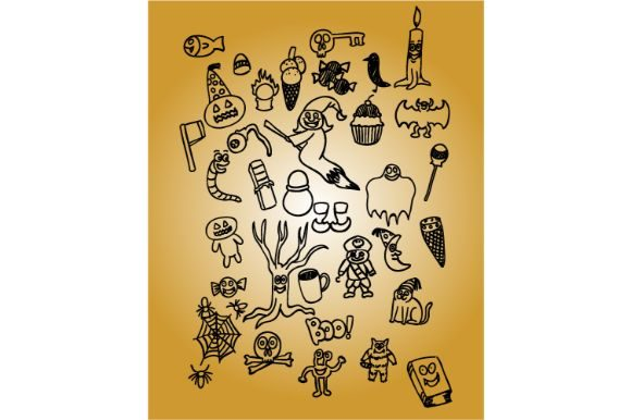 Download Free Halloween Carton Pack Vector Art Graphic By Firdausm601 for Cricut Explore, Silhouette and other cutting machines.